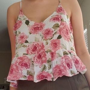 Tops - rose pattern camisole